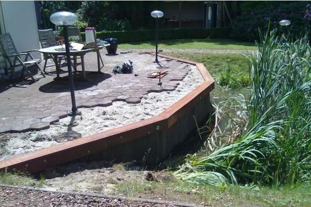 Waterbouw: Aanleggen watertuin Friesland